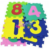 Tiles multicolored numbers